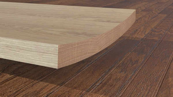 木表を上に矧いだ例