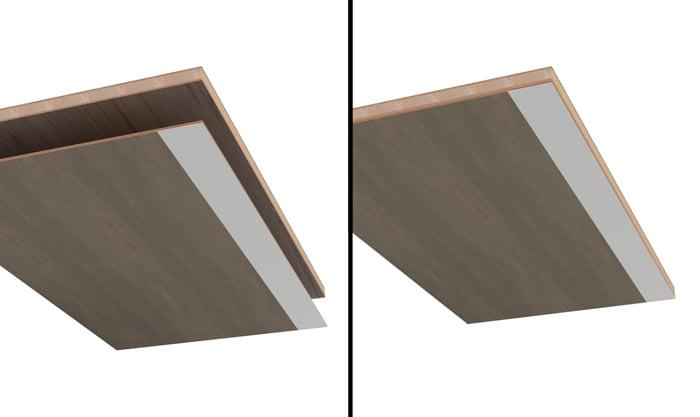 全面引き出しの箱天板