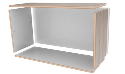 扉の付いた簡単な箱組み立て前
