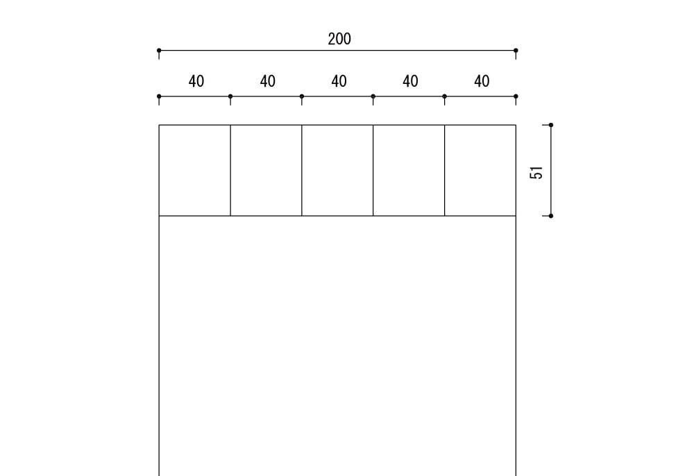 板厚50㎜幅200㎜で蟻加工する場合